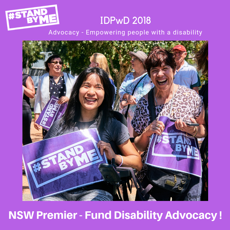 Stand By Me Image -SAVE DISABILITY ADVOCACY IN NSW