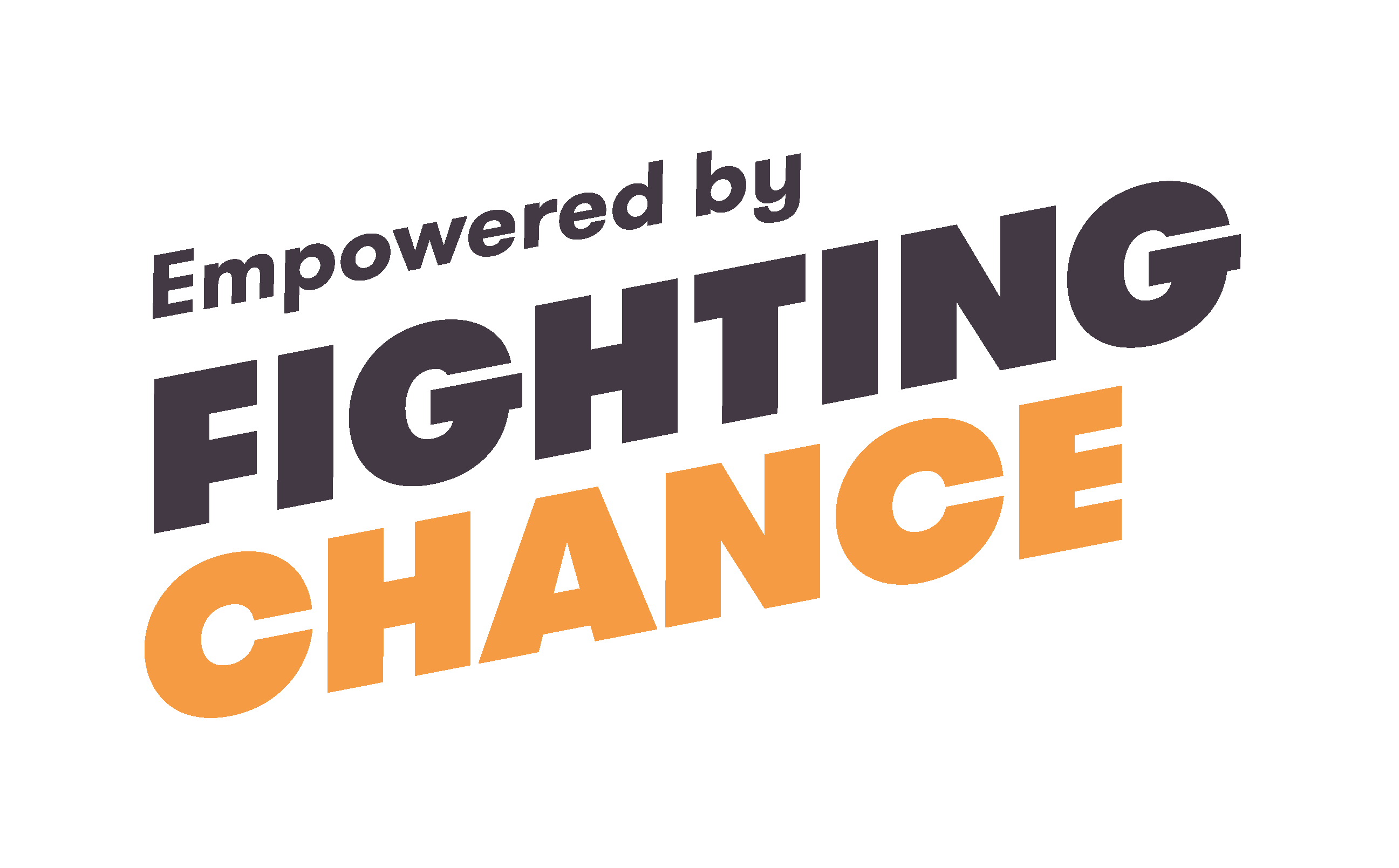 Black and orange text reads Empowered by Fighting Chance