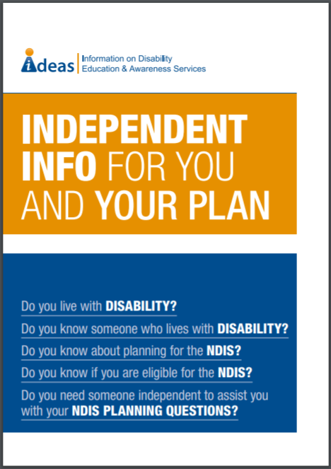 NDIS Pre-planning booklet cover