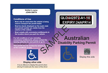 Image of Australian Disability Parking Permit