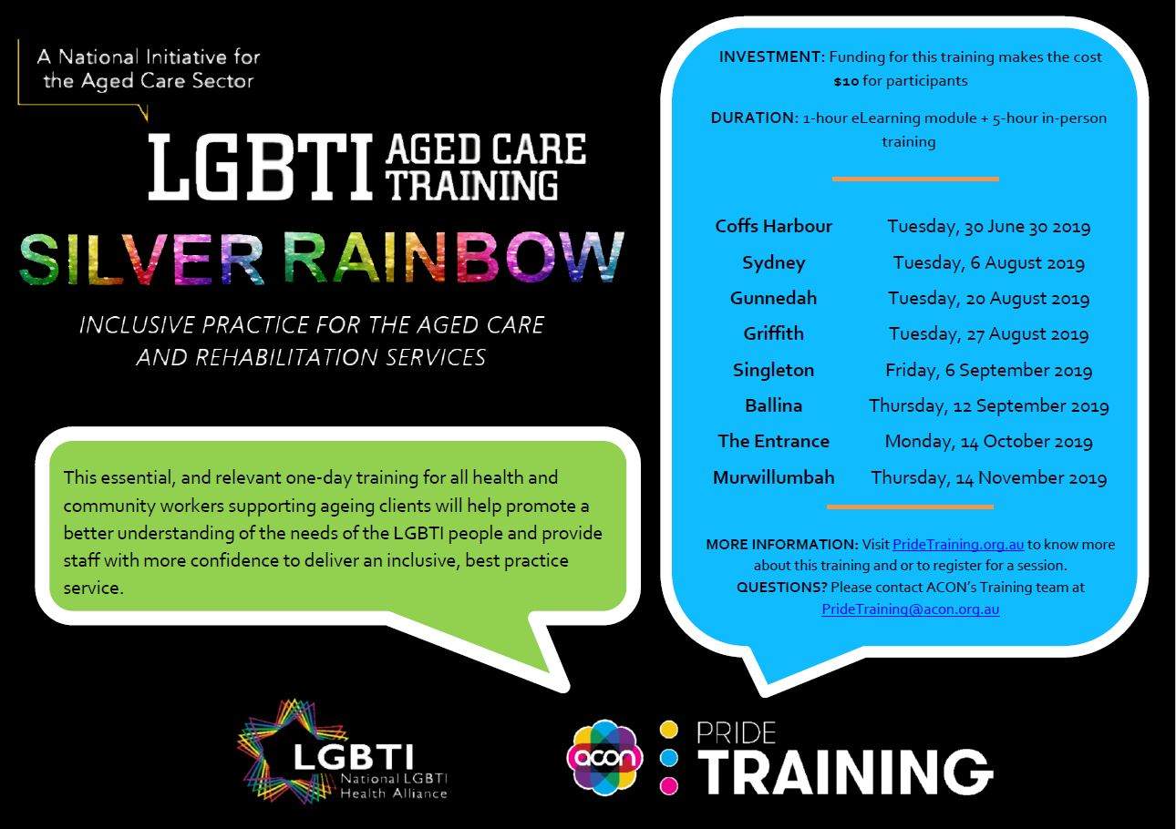 LGBTI Aged Care Training Silver Rainbow