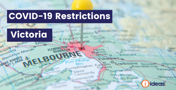 Map of Victoria - COVID REstrictions