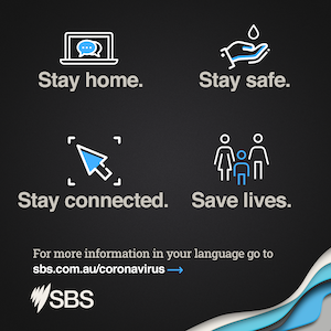 SBS infographic stay home save lives