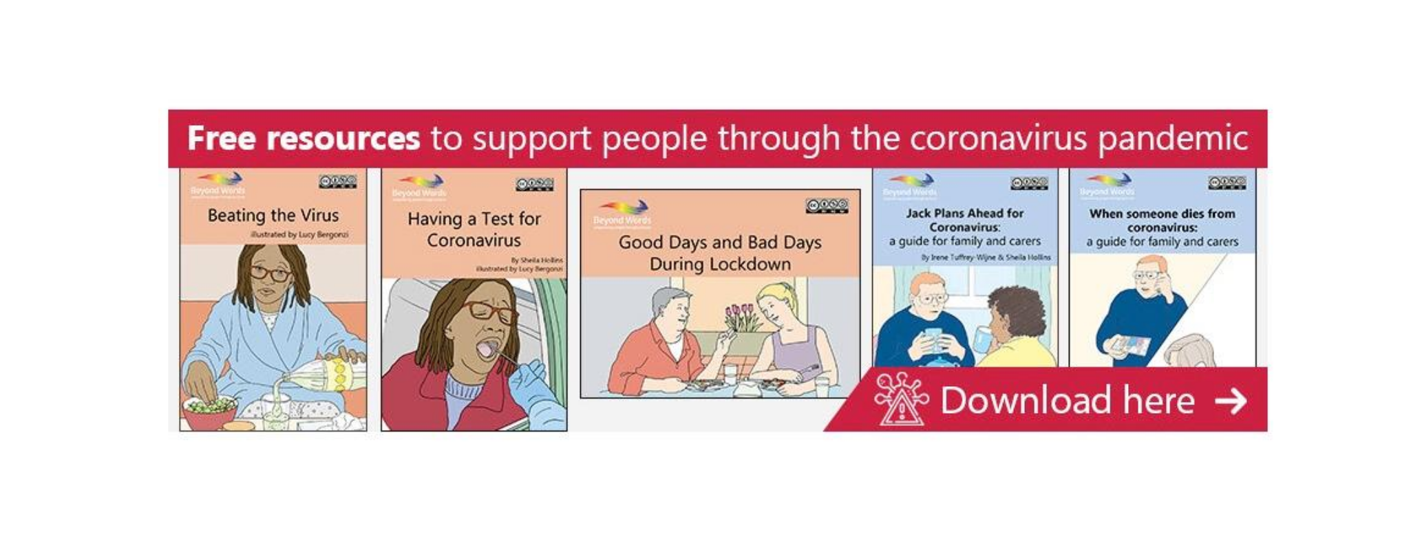 Free resources to support people with a disability, 5 pictorial book covers