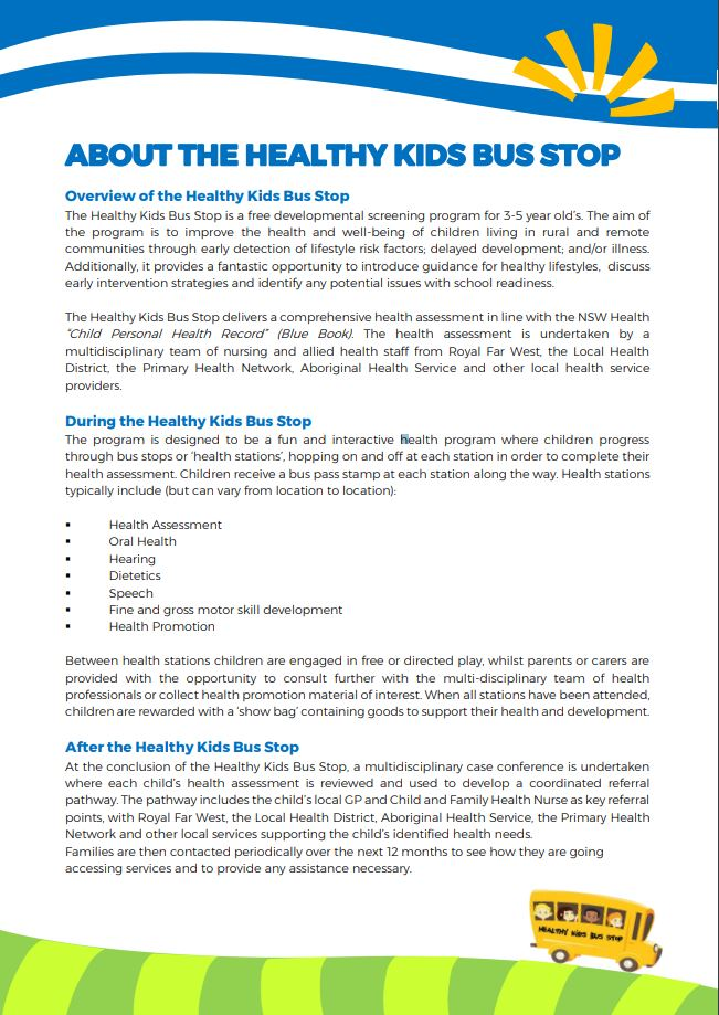 About Healthy Kids Bus Stop