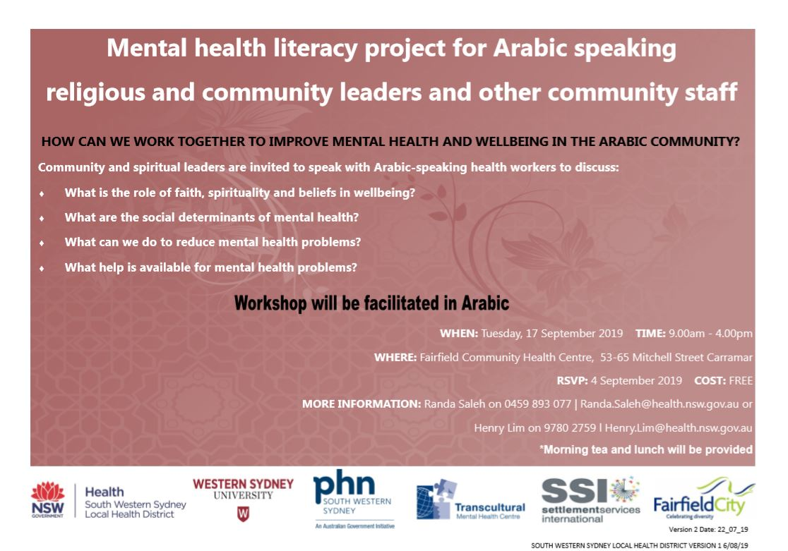 Mental health in the Arabic Community