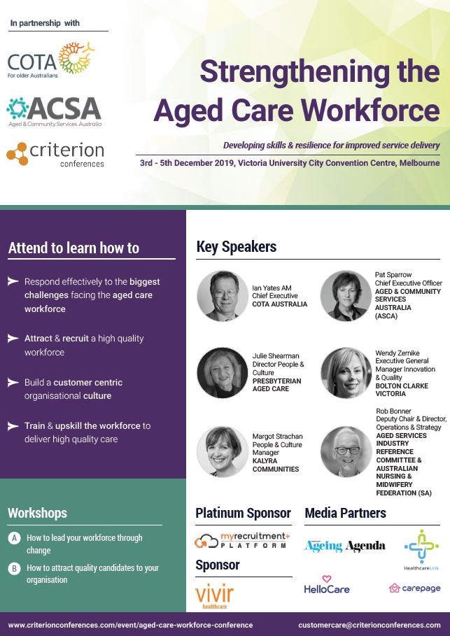 Strengthening the Aged Care Workforce