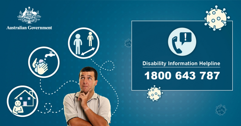 Australian Government Disability Information Helpline 1800 643 787