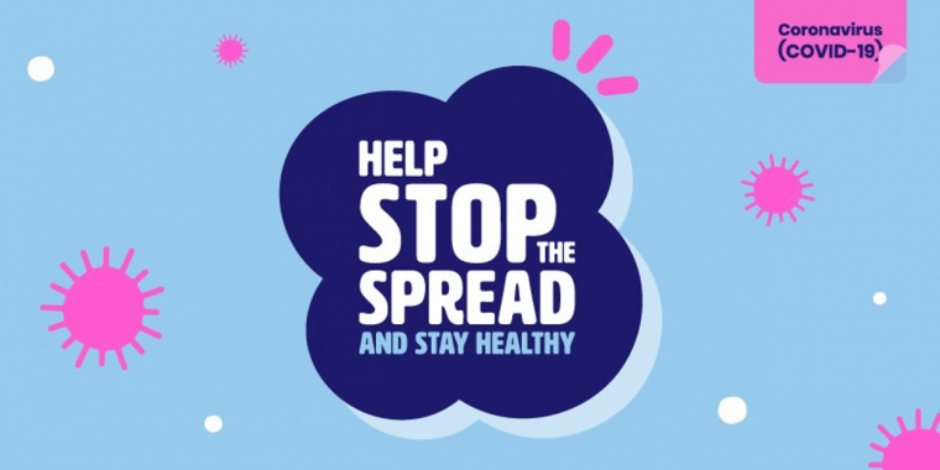 Stop the Spread and Stay Healthy Coronvavirus COVID-19