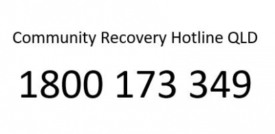Community Recovery Hotline 1800 173 349