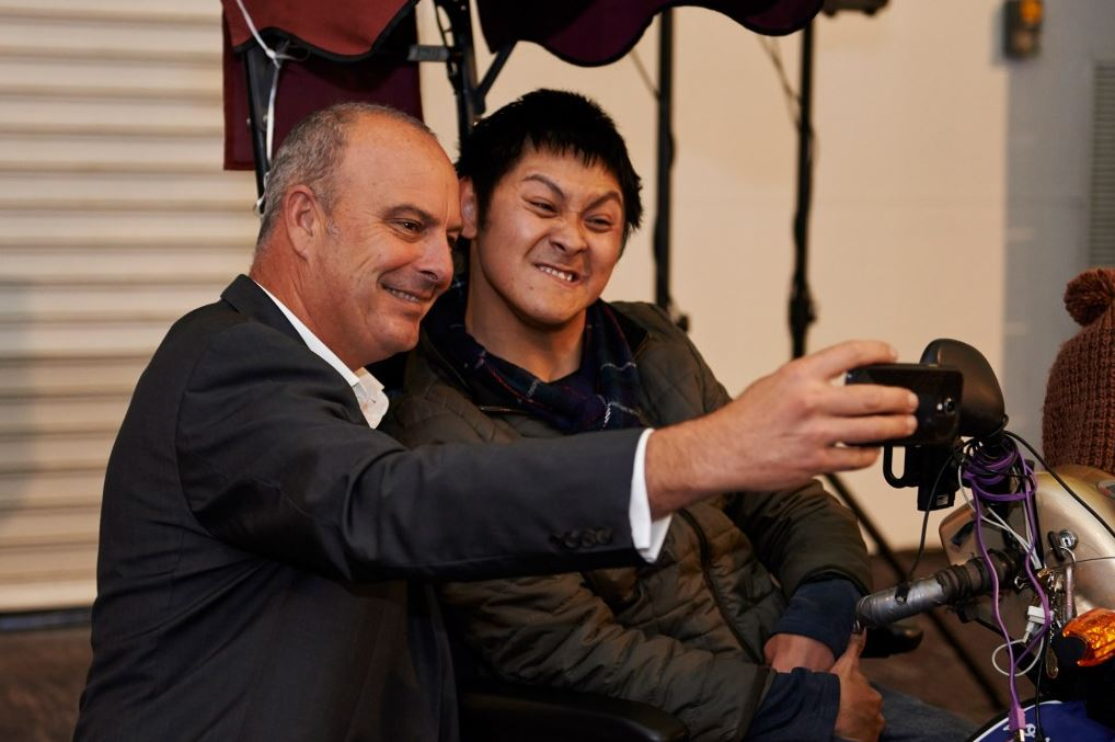 Two men taking a selfie