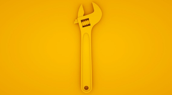 yellow spanner on a yellow background