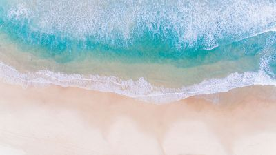 Photo of a beach from above