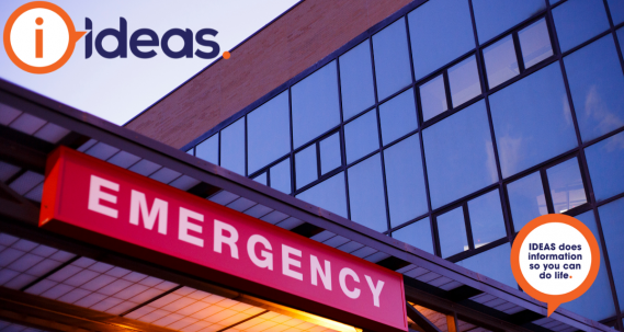 An image of a hospital entrance sign with with Emergency