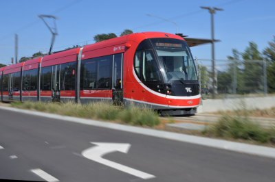 An image of a light rail tram