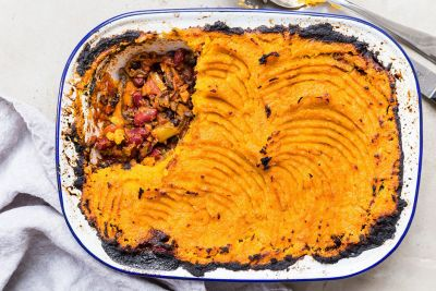 Sweet Potato and Black Bean Shepherd's Pie