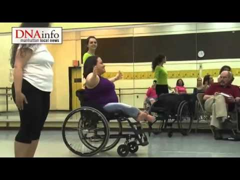 Wheelchair dancing class