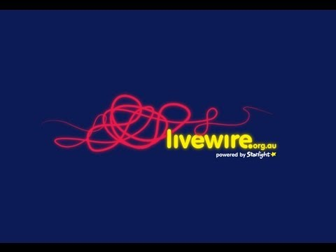 Blue background with introducing livewire written across it