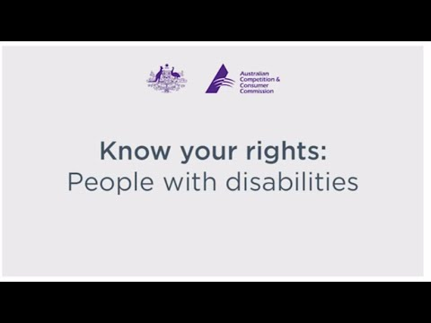 Know your rights: People with disabilities written across a white screen