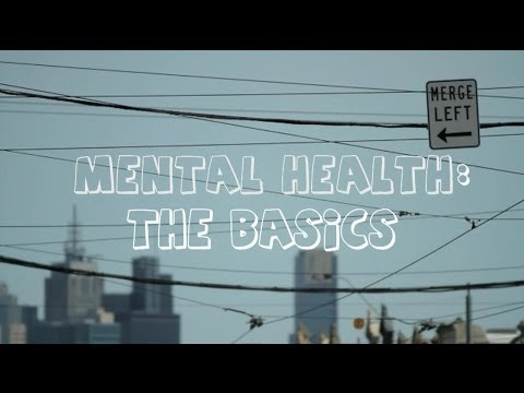 Mental Health the Basics written across a city skyline
