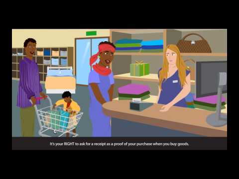 Cartoon image of people shopping