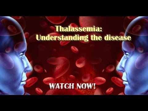 Animated image of 2 faces and blood cells in the background