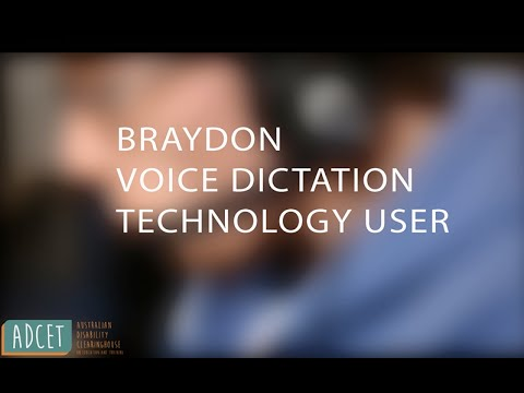 Voice dictation technology in use
