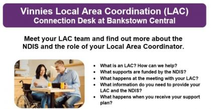 Vinnies Local Area Coordination Bankstown. Image
