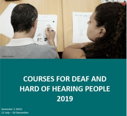 Courses for Deaf and Hard of Hearing People. Image