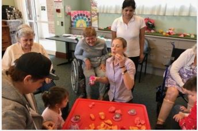 An inter generational playgroup at a Brisbane aged care facility