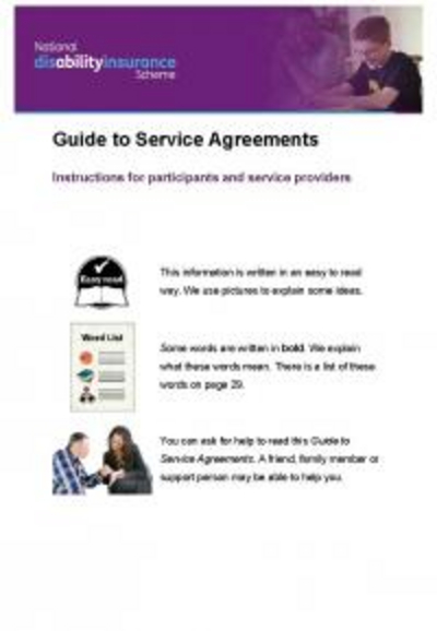 Making a service agreement with your provider.
